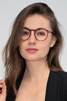 Brown Tortoise round eyeglasses available in variety of colors to match any outfit. These stylish full-rim, large sized acetate eyeglasses include free single-vision prescription lenses, a case and a cleaning cloth. Glasses For Oval Faces, People With Glasses, Cute Glasses, Girls With Glasses, Glasses Frames, Cheap Eyeglasses, Red Eyeglasses, Eyeglasses For Women, Belle