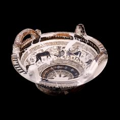 Bowl with basket-like handles and female heads on the rim Greek, around 600 BC Made in Chios, Southern Aegean; from the Sanctuary of Aphrodite, Naukratis, Egypt Aphrodite, Ancient Greece, Ancient Egypt, Ancient Art, Ancient History, All About Africa, Memphis City, History Of Wine, Greece