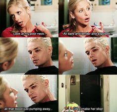 Buffy teasing Spike (Buffy the Vampire Slayer)