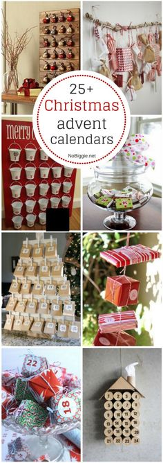 25+ Christmas advent calendars via @nobiggie