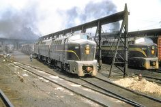 Pennsylvania Railroad Baldwin DR 4-4-15 Shark, class BF15, 1,500 HP diesel electric locomotive # 9583, is seen at the railroad's facility in East Altoona, Pennsylvania, September 16, 1955, John Dziobko Jr. Photo