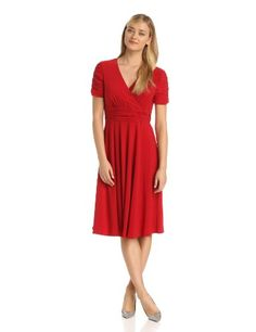 Danny & Nicole Women's Rouched Sleeve Gathered Front Dress - List price: $98.00 Price: $58.80