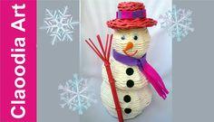 Bałwan z papierowej wikliny, krok po kroku (snowmen paper wicker)