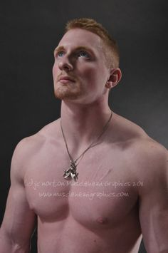 Naked redhead muscle