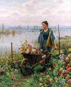 Pinturas do AUwe - Daniel Ridgway Knight (Norte Americano) Paintings I Love, Beautiful Paintings, Charles Gleyre, Knight Art, Illustration Art, Illustrations, Victorian Art, Renoir, Oeuvre D'art