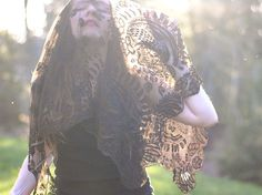 antique victorian lace mourning veil, also sometimes called a weeping veil