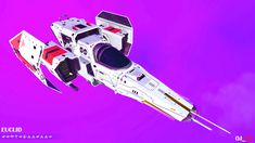 tie-wing stubby w. boosters, white with red accents, box thruster. No Man's Sky, Cyberpunk Art, S Class, Red Accents, Best Games, Vehicle, Gaming, Ships, Geek