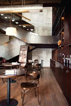 """Interior of the restaurant «BEEF. Meat & Wine """"in Kiev by  bureau Zotov & Co"""