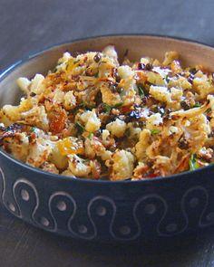 Caramelized Cauliflower Plain and Fancy - Martha Stewart Recipes mmm caramelized cauliflower...