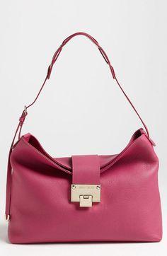 Rachel Small Grainy Calfskin Leather Shoulder Bag - Lyst