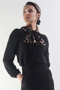 Ruffle Blouse, Animal, Elegant, Long Sleeve, Sleeves, Outfits, Tops, Women, Fashion