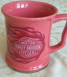 New-Harley-Davidson-Coffee-Cup-Mug-Pink-and-Silver-For-the-Ladies