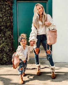 Mom outfits, girls weekend outfits, cute outfits for kids, mother daughte. Mother Daughter Matching Outfits, Mother Daughter Fashion, Mommy And Me Outfits, Little Girl Outfits, Family Outfits, Mom Daughter, Cute Outfits For Kids, Little Girl Fashion, Mommy Daughter Pictures