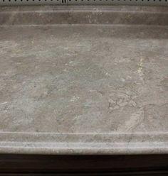 Travertine Etchings Laminate Top Kitchen Cabinets In Bathroom, Bathroom Cabinets, Kitchen Countertops, Kitchen And Bath, Galley Style Kitchen, Kitchen Tops, Create A Shopping List, Etchings, Travertine