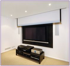 install projector screen in ceiling - Google Search