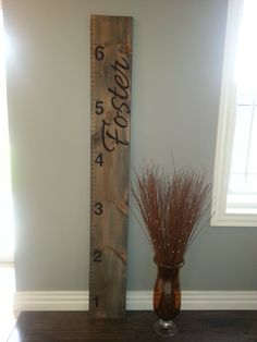 Custom Growth Ruler Growth Chart Rustic Vintage Antique Home decor Kids