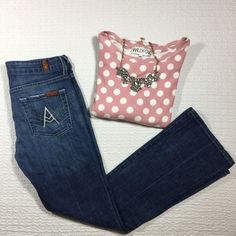 """7 for all mankind A Pocket Jeans In excellent t condition, only worn two or three times, 29.5"""" inseam. Sweater top is also listed in my closet :) 7 for all Mankind Jeans"""