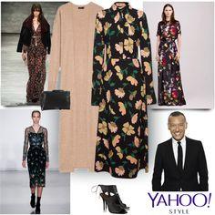 Yahoo Style NYFW Trend: Dark Winter Florals