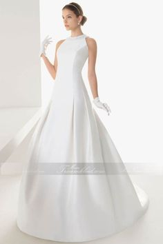 A-Linie Weiß Wunderschönes Brautkleid