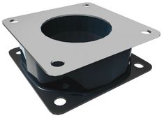 "RAM 3 x 3 Backing Plate w// AMPS /& 1.5/"" x 2/"" Pattern Threaded Holes /& Hardware"