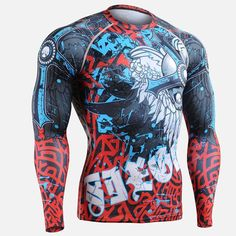 2016 Brand Martial Arts shirts Top male T Shirt MMA Cage Fighting Tees spandex T Shirt Training Top long Sleeve O Neck plus size