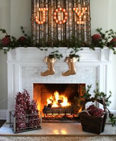 Creative ways to decorate your fireplace - highlight a festive phrase – Cottage Life