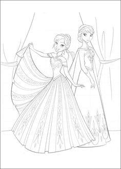 Dibujos para Colorear. Dibujos para Pintar. Dibujos para imprimir y colorear online. Frozen 23