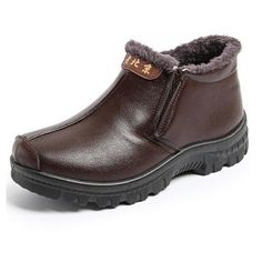 Winter Men Boots Fur Lining Keep Warm Casual Outdoor High Top Flat Shoes