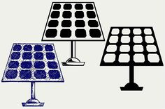 Solar Panel SVG DXF #abstract #alternative