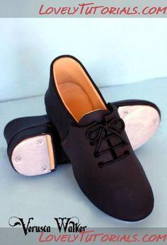 How to Make fondant / gumpaste Men's Shoes
