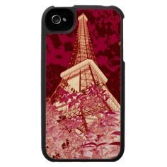 Pink Eiffel Tower Abstract iPhone 4 Case by Carol Groenen #iPhonecase #iPhonecases #eiffeltower