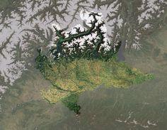 La Lombardia vista dallo spazio