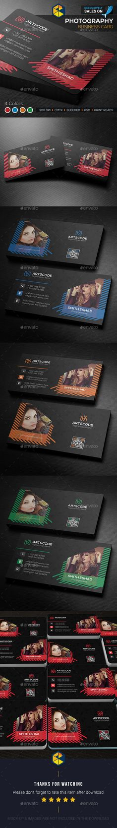 Photography Business Card Template PSD. Download here: https://graphicriver.net/item/photography-business-card/17344396?ref=ksioks