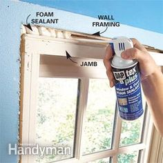Stop window drafts and door drafts to save energy