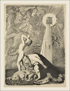 Norman Lindsay - Illustration from Colombine, published 1920 by Angus and Robertson in Sydney