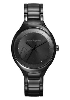Hush Puppies Orbz Women's Automatic Watch with Black Dial Analogue Display and Black Stainless Steel Bracelet HP.3784L.1502: Amazon.co.uk: W...