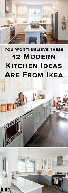 We all love Ikea, but these modern kitchen designs are above anything else we've seen (and fallen in love with)! #ikea #design