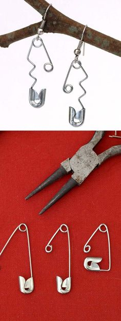 How to make a variety of earrings from Safety Pins