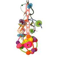 Plastic Satelite Swing Bird Toy