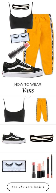 """Untitled #401"" by spacehive666 on Polyvore featuring Vans, MAC Cosmetics, Huda Beauty and Kenneth Jay Lane"