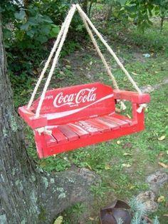 Coca Cola Swing Two things i like a lot. Coke and swinging. That is Coke Cola swing and swinging on a coke cola swing while drinking coke cola! Coca Cola Decor, Coca Cola Ad, Always Coca Cola, World Of Coca Cola, Pepsi, Best Soda, Coca Cola Kitchen, Cocoa Cola, Vintage Coke