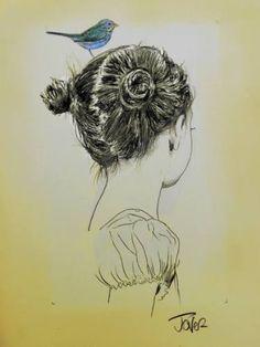 "Saatchi Art Artist Loui Jover; Drawing, ""little dreams"" #art"