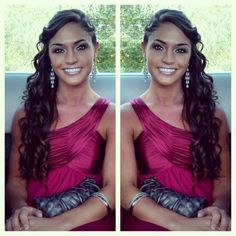 #bridesmaid #wedding #hair #longhair #brunette #makeup #beauty