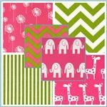 Premier Prints Candy Pink & Charteuse Collection - would love to do L's big girl room in these fabrics.