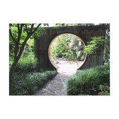 Circular Gate Japanese Wrapped Canvas Canvas Print #zazzle #prints #canvas #gate #japanese
