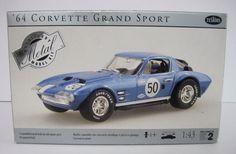 "Testors ""64 Chevy Corvette Grand Sport Model Kit 1/43 Metal Body Blue"