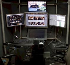 Battlestation or what I would imagine my friend Steve's computer room to look like....