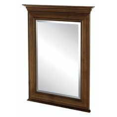 Home Decorators Collection Templin 34 in. L x 25 in. W Framed Vanity Wall Mirror in Coffee (Brown)