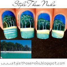 Style Those Nails: Buddy Nailart- Landscape Nails featuring Port Blair's Beach and Historic Cellular Jail