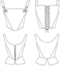 Folkwear Pattern #267  I want to make some variation on these corsets.